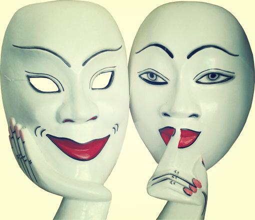 maschera - abbandono